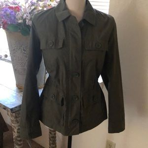Talbots olive green jacket
